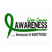 Awareness 2 Liver Cancer Postcard
