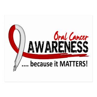 Awareness 2 Oral Cancer Postcard