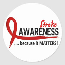 Awareness 2 Stroke Classic Round Sticker