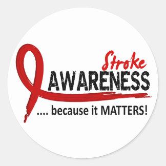 Awareness 2 Stroke Classic Round Sticker