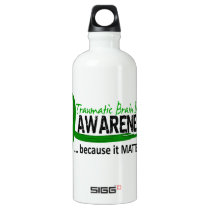 Awareness 2 Traumatic Brain Injury TBI Aluminum Water Bottle