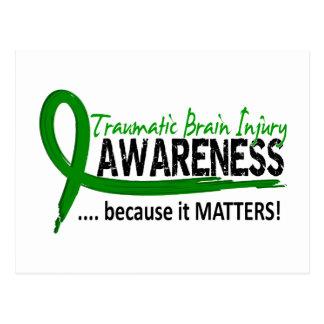 Awareness 2 Traumatic Brain Injury TBI Postcard