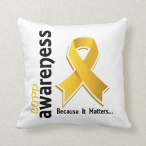 Awareness 5 COPD Throw Pillow