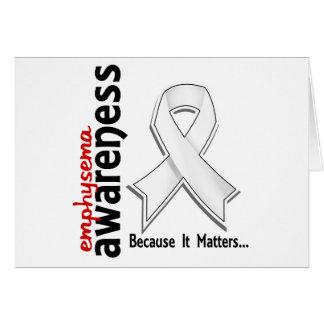 Awareness 5 Emphysema Greeting Card