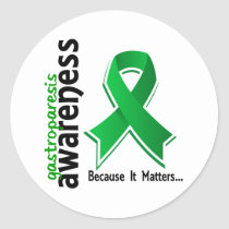 Awareness 5 Gastroparesis Classic Round Sticker