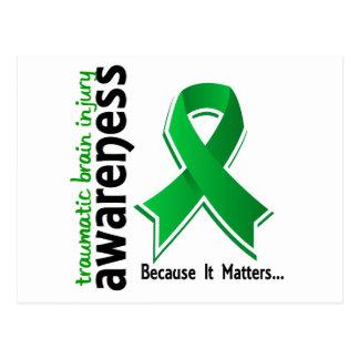 Awareness 5 Traumatic Brain Injury TBI Postcard