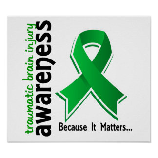 Awareness 5 Traumatic Brain Injury TBI Poster