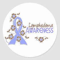 Awareness 6 Lymphedema Classic Round Sticker