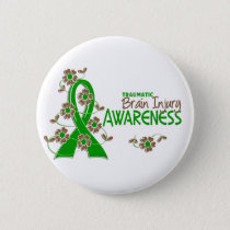 Awareness 6 Traumatic Brain Injury Pinback Button