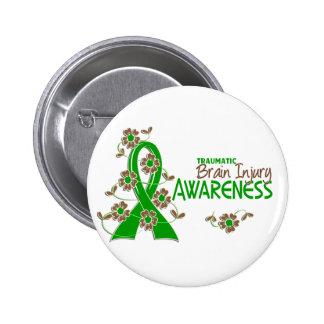 Awareness 6 Traumatic Brain Injury Pinback Button
