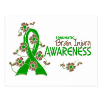 Awareness 6 Traumatic Brain Injury Postcard