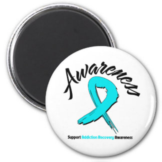 AWARENESS Addiction Recovery 2 Inch Round Magnet