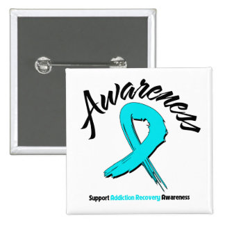 AWARENESS Addiction Recovery Pinback Button
