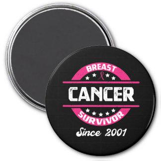 Awareness Breast Cancer Survivor Since 2001 Magnet