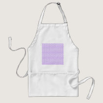 Awareness Butterflies on Lilac Purple Adult Apron