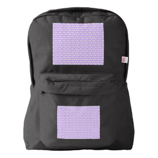 Awareness Butterflies on Lilac Purple Backpack
