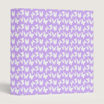 Awareness Butterflies on Lilac Purple Binder