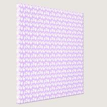 Awareness Butterflies on Lilac Purple Canvas Print