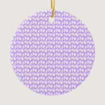 Awareness Butterflies on Lilac Purple Ceramic Ornament