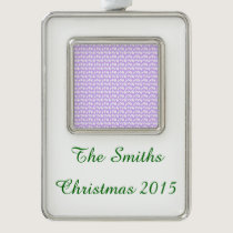 Awareness Butterflies on Lilac Purple Christmas Ornament