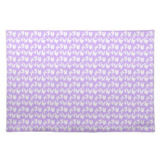 Awareness Butterflies on Lilac Purple Cloth Placemat