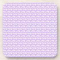 Awareness Butterflies on Lilac Purple Coaster