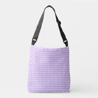 Awareness Butterflies on Lilac Purple Crossbody Bag