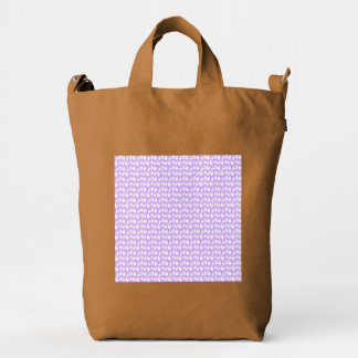 Awareness Butterflies on Lilac Purple Duck Bag