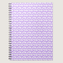 Awareness Butterflies on Lilac Purple Notebook
