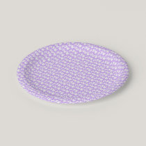 Awareness Butterflies on Lilac Purple Paper Plate