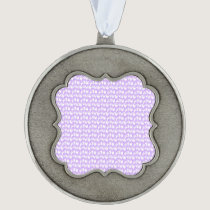 Awareness Butterflies on Lilac Purple Pewter Ornament