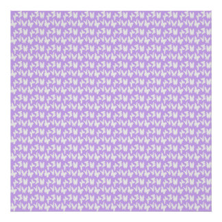 Awareness Butterflies on Lilac Purple Poster