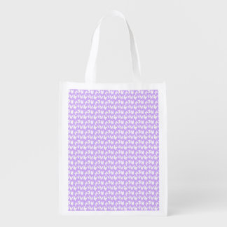 Awareness Butterflies on Lilac Purple Reusable Grocery Bag