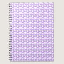 Awareness Butterflies on Lilac Purple Spiral Notebook