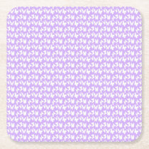 Awareness Butterflies on Lilac Purple Square Paper Coaster