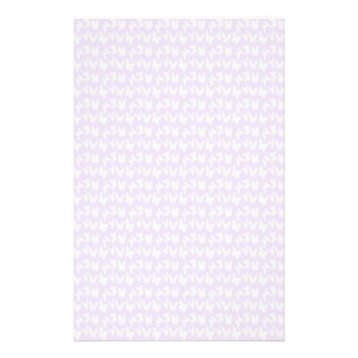 Awareness Butterflies on Lilac Purple Stationery