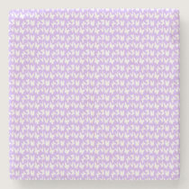 Awareness Butterflies on Lilac Purple Stone Coaster
