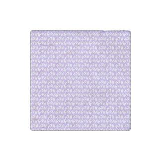 Awareness Butterflies on Lilac Purple Stone Magnet