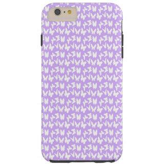 Awareness Butterflies on Lilac Purple Tough iPhone 6 Plus Case