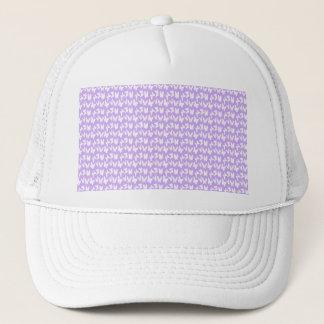 Awareness Butterflies on Lilac Purple Trucker Hat