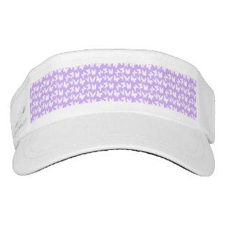 Awareness Butterflies on Lilac Purple Visor