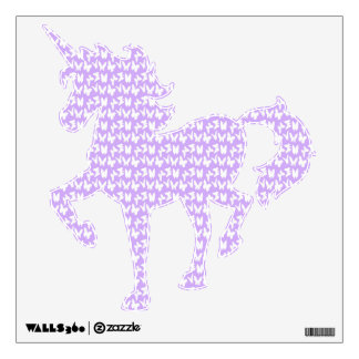 Awareness Butterflies on Lilac Purple Wall Sticker