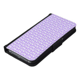 Awareness Butterflies on Lilac Purple Wallet Phone Case For Samsung Galaxy S6