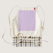 Awareness Butterflies on Lilac Purple Zazzle HEART Apron
