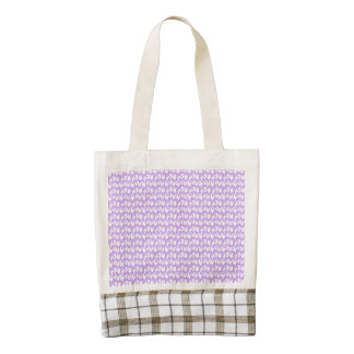 Awareness Butterflies on Lilac Purple Zazzle HEART Tote Bag