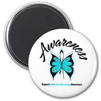 AWARENESS Butterfly Addiction Recovery Magnets