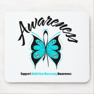 AWARENESS Butterfly Addiction Recovery Mouse Pad