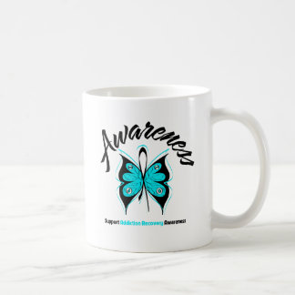 AWARENESS Butterfly Addiction Recovery Classic White Coffee Mug