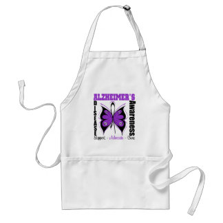Awareness Butterfly Alzheimers Disease Apron