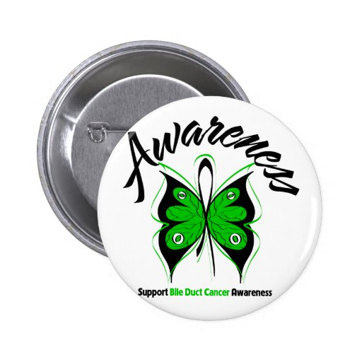 AWARENESS Butterfly Bile Duct Cancer 2 Inch Round Button